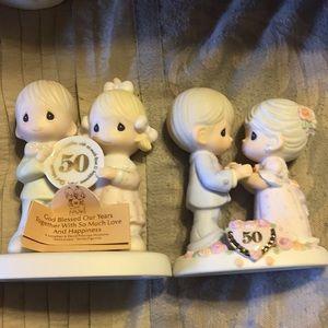 Precious Moments 50th anniversary figurines